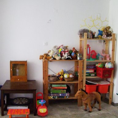 Toys and board games available